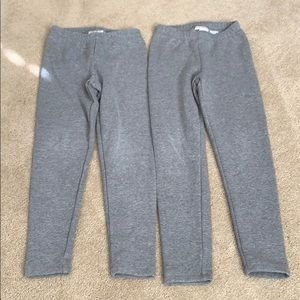 Cat and jack gray fleece leggings